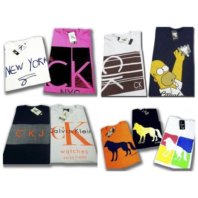 aadc6961e86 Kit 5 Camiseta Masculina Camisa Blusa Barata De Marca em Congonhas ...