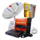 Antena Parabólica 1,90 Receptor Midiabox B4 Century Mono Cb