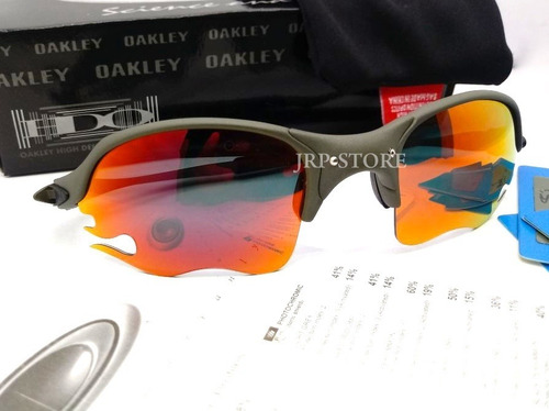 ef993e5ea5871 Oculos Oakley Romeo 2 X Metal Flame Ruby Lente Corte Fogo