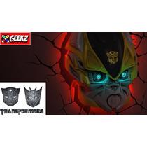 Luminaria 3d Light Fx Transformers Autobot Bumblebee