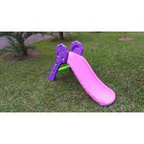 Escorregador Infantil De Plastico Rosa