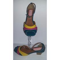 Sandália Sapatilha Saltinho - Shekina Calçados