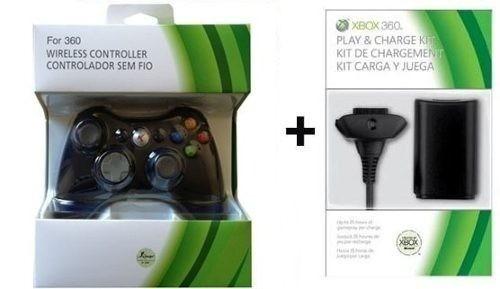 Controle Xbox 360 Sem Fio + Carregado+ Bateria 12.000mah Kit
