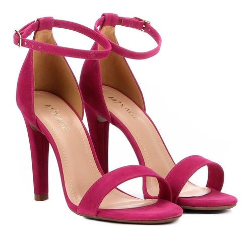 9aaf83bd2 Sandália Feminina Salto Alto Pink Preta Tendencia 1906945