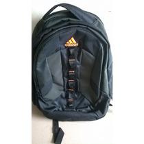 Mochila Adidas Preta Laranja Load Spring Adventure Laptop