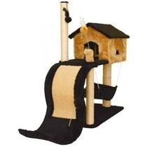 Arranhador Para Gato Com Tobogã / House Casinha Casa Cama