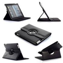Case Ipad 4 3 2 Couro Smart Cover Giro De 360 Preta & Cores