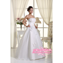 Vestido De Noiva Tomara Que Caia Com Laços - Importado