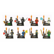 Kit Com 8 Bonecos Da Série Ninjago 2014 Compatível Com Lego