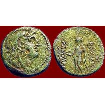 Alexandre I Balas. Moeda De Bronze Grega. Grécia Antiga