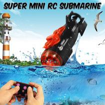 Mini Submarino Rc Controle Remoto Led Luz (aquário) Novo!