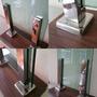 Coluna Inox Torre 50cm - Guarda Corpo E Corrimão De Vidro