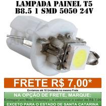 Lampada Led T5 B8.5 Branca 24 Volts - Caminhoes E Onibus