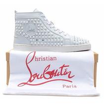 Sneaker Christian Louboutin Louis Spikes Branco - Lv Gucci