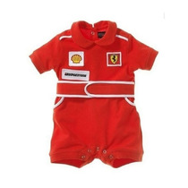 Macacão Bebê Ferrari Manga Curta - Pronta Entrega