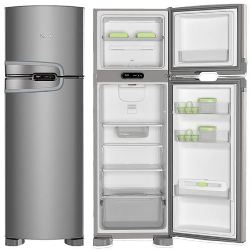 Refrigerador geladeira Consul Frost Free 2 Portas 275l Evox