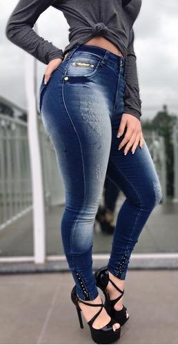 ed5c67004 Calça Jeans Feminina Cigarrete Cintura Alta Spaço Vagun