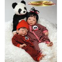 * Panda Menina Ou Menino Bebê Realista Asiático Tipo Reborn