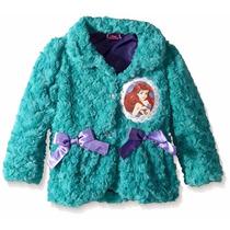 Disney Moletom Blusa Casaco Forrado Ariel Pequena Sereia