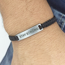 Pulseira Shambala Masculina Stay Strong Mantenha-se Forte