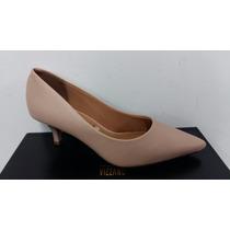 Sapato Feminino Vizzano 1122.600 Scarpin Salto 5cm Nude