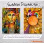 Quadro Decorativo Abstrato Imagens Paisagens 30x22 L 4uni