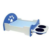 Caminha Cães Gatos Pet Shop Em Mdf Madeira Azul Ou Rosa