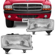 Farol Dakota Dodge 97 98 99 00 01 02 Com Suporte + Brinde