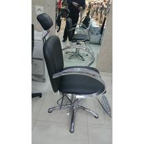Cadeira Cabeleireiro Ferrante Inox Hidráulica Salão Beleza