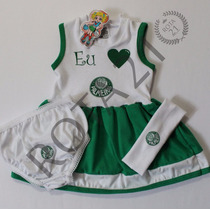 Vestido Infantil Palmeiras