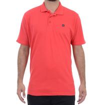 Camiseta Masculina Oakley Polo Essential Elipse Vermelha