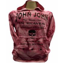 Blusa Moletom Masculina John John Jj01 Rosa