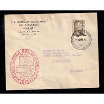 Varig-envelope 1º Vôo B.aires- Porto Alegre C/carimbo Verso