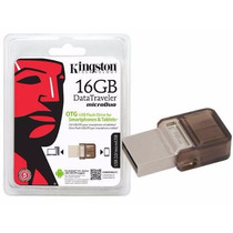 Pen Drive Kingston Dtduo 16gb Usb Otg Tablet Celular Pc