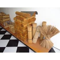 Vareta De Bambu 55cm P/ Pipas Gaiolas Etc Aprox. C/800