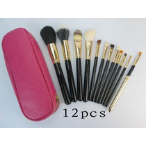 Kit Pinceis 12pçs Mac Rosa Original Importado Pronta Entrega