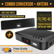 Conversor Receptor Digital Hdtv Novo Padrão 4g Max + Antena