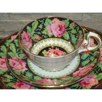 Lindo E Antigo Trio Chá Floral Inglês Royal Albert !! Xícara