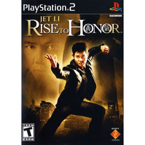 Jogo Ps2 - Game Original - Ntcs-uc - Jet Li Rise To Honor