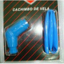 Cachimbo Vela Titan125/150 Ybr/ Silicone Cor Azul