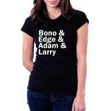 Camiseta Blusa Feminina Irish Heroes U2