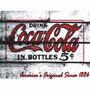 Placa De Decoração Em Mdf - Coca Cola - Bar - Retro - Antigo