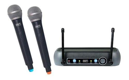 Microfones Sem Fios Mxt Uhf-202 Preto