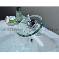 Torneira Misturador Para Banheiro Cascata Vidro Promoção