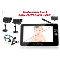 Baba Eletrônica Sem Fio 2 Cameras 7 Polegadas Visão Noturn