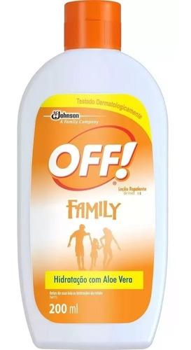 Repelente Off Hidratante Loção Family 200 Ml 10 Unid