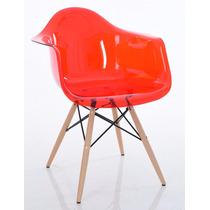 Cadeira Eames Eiffel Com Braços - Policarbonato Transparente