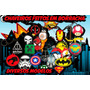 Chaveiro Deadpool, Superman, Batman, Capitao America, Iron