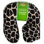 Travesseiro Almofada Girafa Viagem Micro Perolas Com Máscara