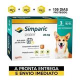 Antipulgas Simparic Para Cães 10,1 A 20 Kg - 3 Comp. Avulsos